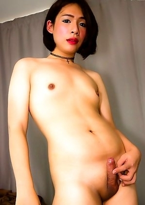 Sammy is a sexy Bangkok tgirl with a pretty face, a nice soft body, natural tits and a delicious uncut cock!