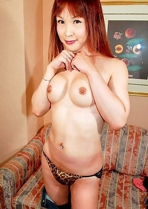 Hinako has a super-hot body equipped with a pair of big breasts and a big she-cock that shoots a giant load of white cum.