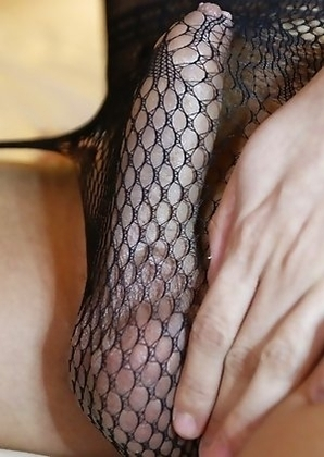 Huge tits Thai shemale Sofie teasing in her black lace body suit