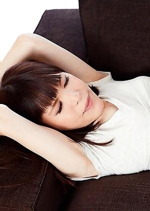 Young japan shemale Kawai Yui handjob with vibrator