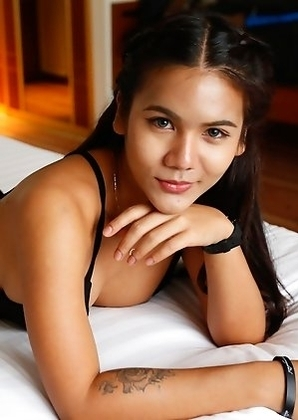 Horny 20yo Thai ladyboy Mickey loves to have fun and big white cocks
