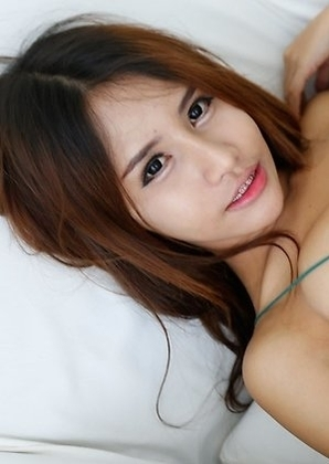 19yo hot Thai ladyboy Tontan gets cum blown all over her from big white cock
