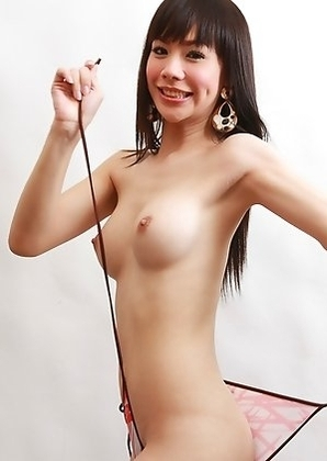 Thai Ladyboy Tai - Fair Skinned Fishnet Fapping