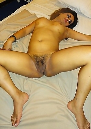 Chubby Ladyboy Aris shows her thick naked ass and cock