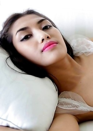 Beautiful feminine Thai Ladyboy Wine enjoys hard ass packing