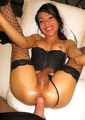 Big dick Creamy's gaped hole is slathered in a HUGE dripping cumshot! Creamy is dressed to kill in sexy black lingerie and stockings.