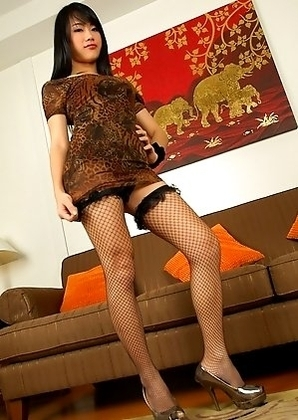 Bangkok ladyboy hottie Honey is ready to go as she pulls off her dress, her kickers and bra are quick to follow.