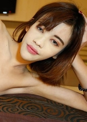 18 year old Asian ladyboy gets mouth and ass filled by white tourists big dick