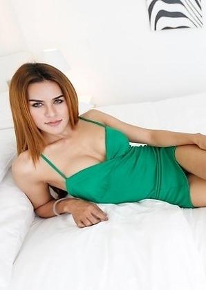 23yo hot Thai ladyboy Nuni gets ass reamed by big white cock