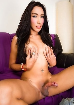Kwang is a sexy girl with a hot slim body, great ass, big sexy boobs and a big hard cock! Stunning on Camera and in person with a smile to die for!