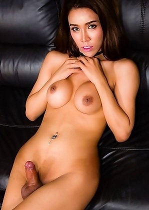 Angel is a stunning ladyboy with an amazing face, sexy slim body with big tits, a nice firm ass and a big thick cock!